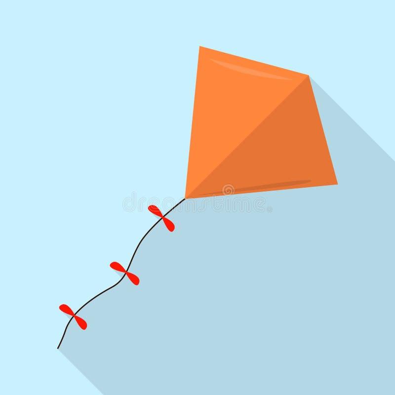 Πορτοκαλί εικονίδιο ικτίνων, επίπεδο ύφος διανυσματική απεικόνιση