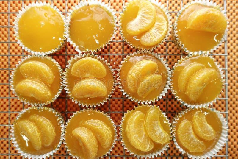 Πορτοκαλί κέικ στοκ φωτογραφία με δικαίωμα ελεύθερης χρήσης