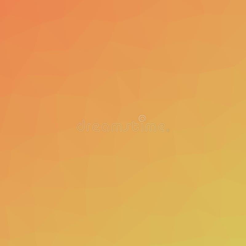 Πορτοκαλί και πράσινο πολύγωνο τριγώνων στην τετραγωνική απεικόνιση υποβάθρου μορφής διανυσματική απεικόνιση
