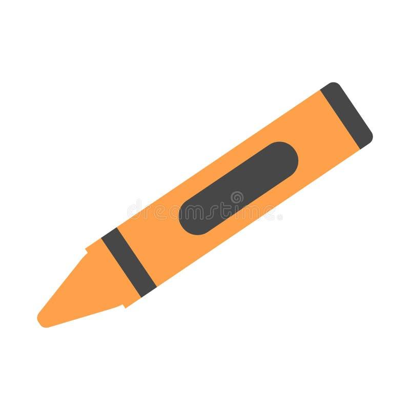 Πορτοκαλί κραγιόνι κεριών - διανυσματικό εικονίδιο πίσω σχολείο επίσης corel σύρετε το διάνυσμα απεικόνισης ελεύθερη απεικόνιση δικαιώματος