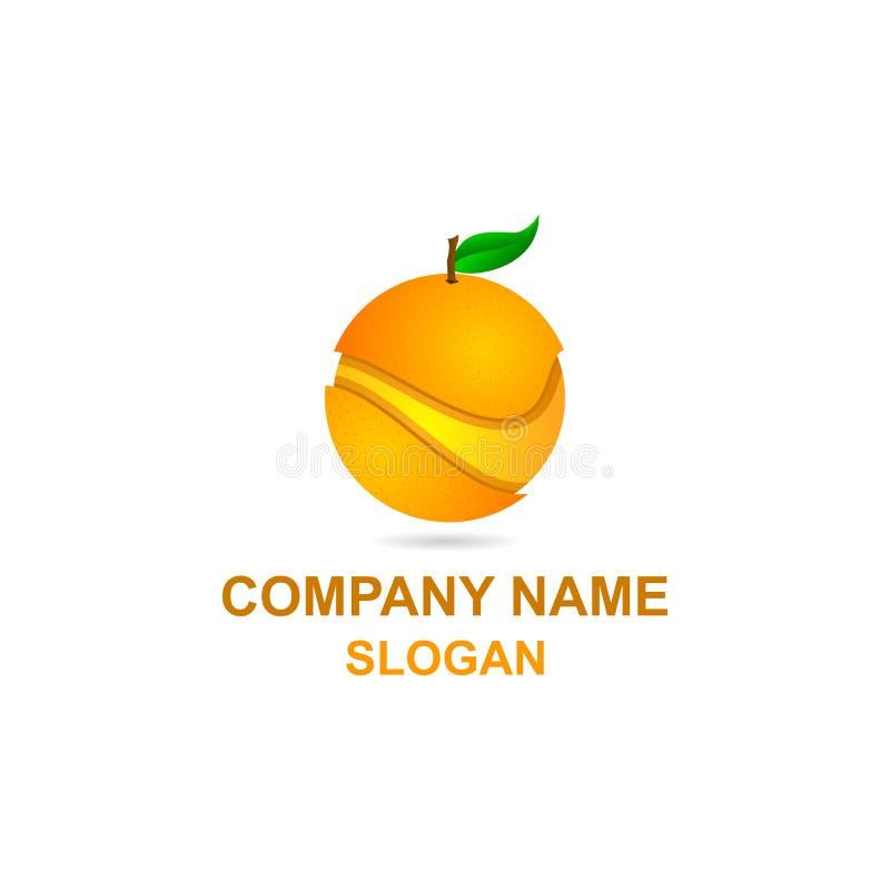Πορτοκαλί λογότυπο φετών φρούτων απεικόνιση αποθεμάτων