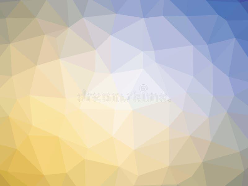 Πορτοκαλί μπλε polygonal υπόβαθρο απεικόνιση αποθεμάτων
