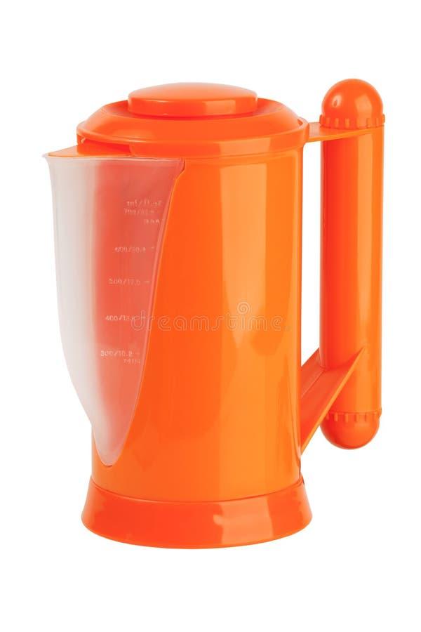 πορτοκαλί πλαστικό δοχείο μικρό στοκ εικόνα