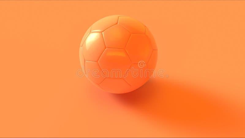 Πορτοκαλί ποδόσφαιρο ροδάκινων ελεύθερη απεικόνιση δικαιώματος