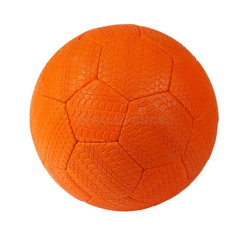 πορτοκαλί ποδόσφαιρο σφ& στοκ φωτογραφία με δικαίωμα ελεύθερης χρήσης