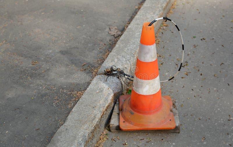 Πορτοκαλί σημάδι οδικών κώνων στοκ εικόνες με δικαίωμα ελεύθερης χρήσης