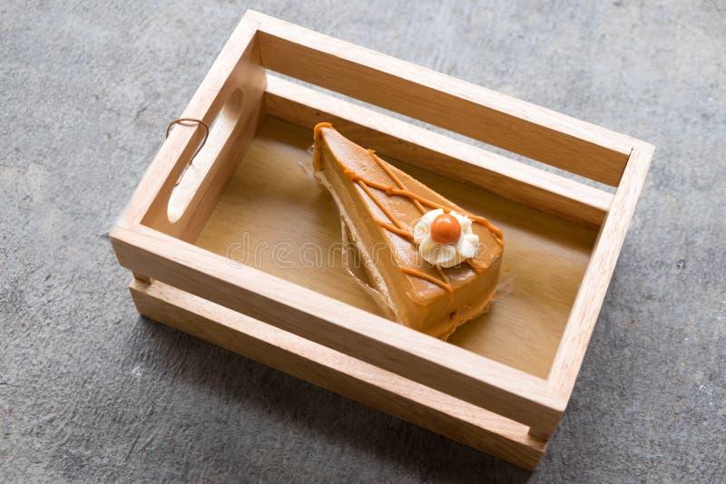 Πορτοκαλί ταϊλανδικό κέικ τσαγιού στοκ εικόνα