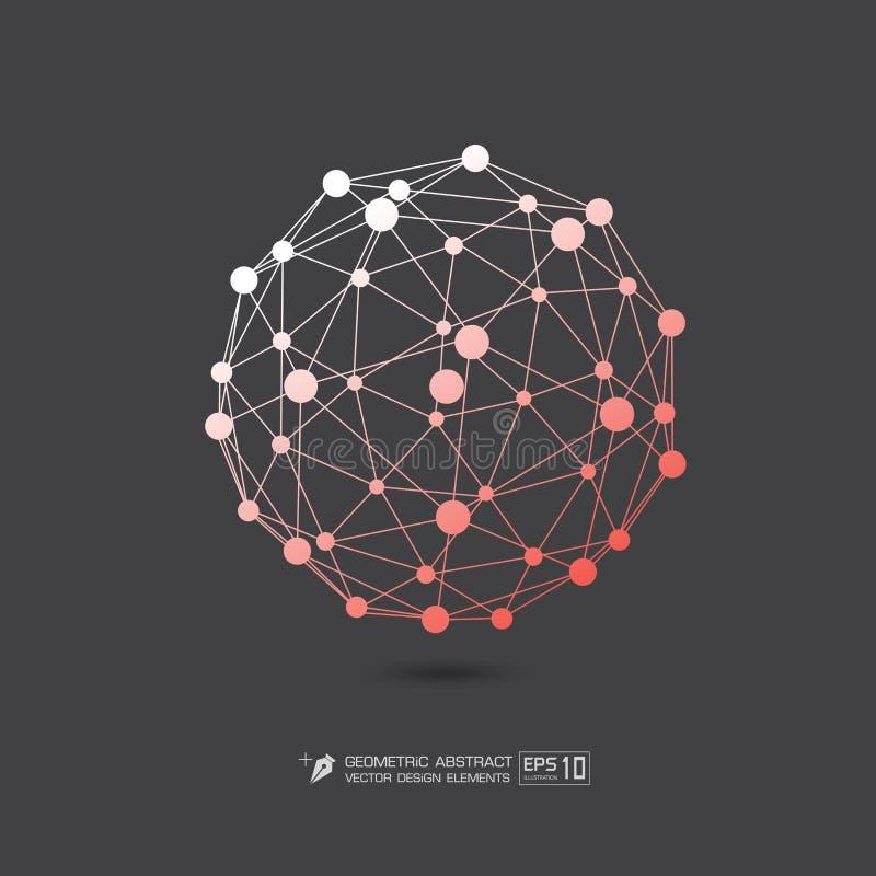 Πορτοκαλί χρώμα δομών μορίων στην γκρίζα απεικόνιση σχήματος υποβάθρου διανυσματική EPS10 απεικόνιση αποθεμάτων