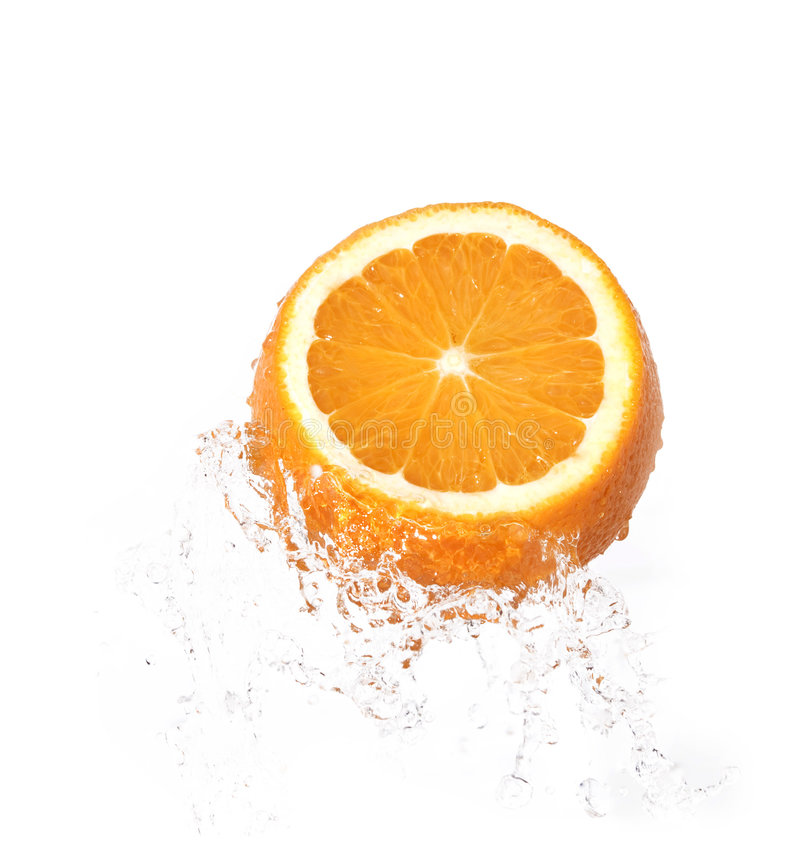 πορτοκαλί ύδωρ παφλασμών στοκ φωτογραφίες με δικαίωμα ελεύθερης χρήσης