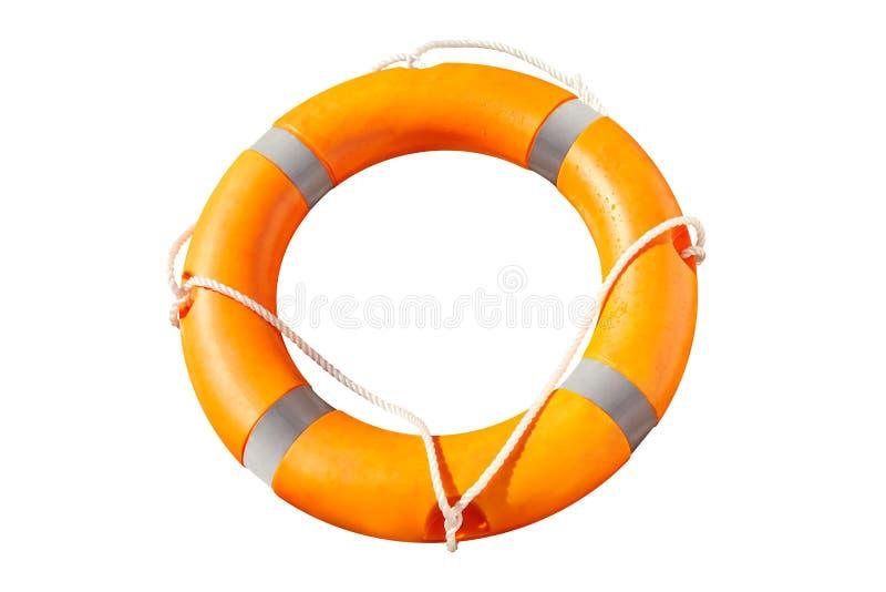 Πορτοκαλί lifebuoy δαχτυλίδι με τις γραμμές ζωής στοκ φωτογραφία με δικαίωμα ελεύθερης χρήσης
