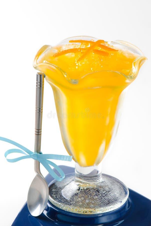 πορτοκαλί sorbet στοκ εικόνα
