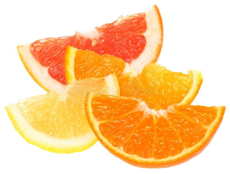 πορτοκαλί tangerine φετών λεμον&iot στοκ εικόνες με δικαίωμα ελεύθερης χρήσης