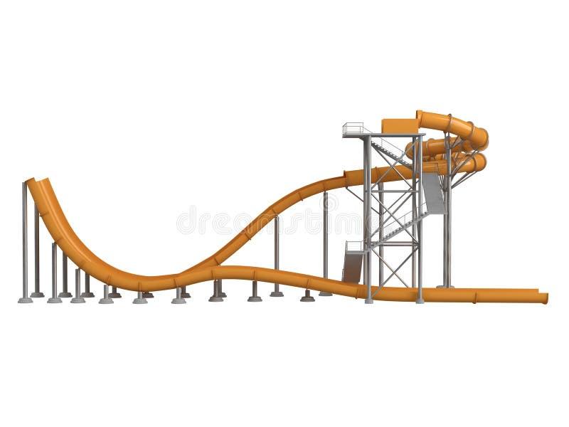 Download πορτοκαλί waterslide απεικόνιση αποθεμάτων. εικονογραφία από διακοπές - 22779612