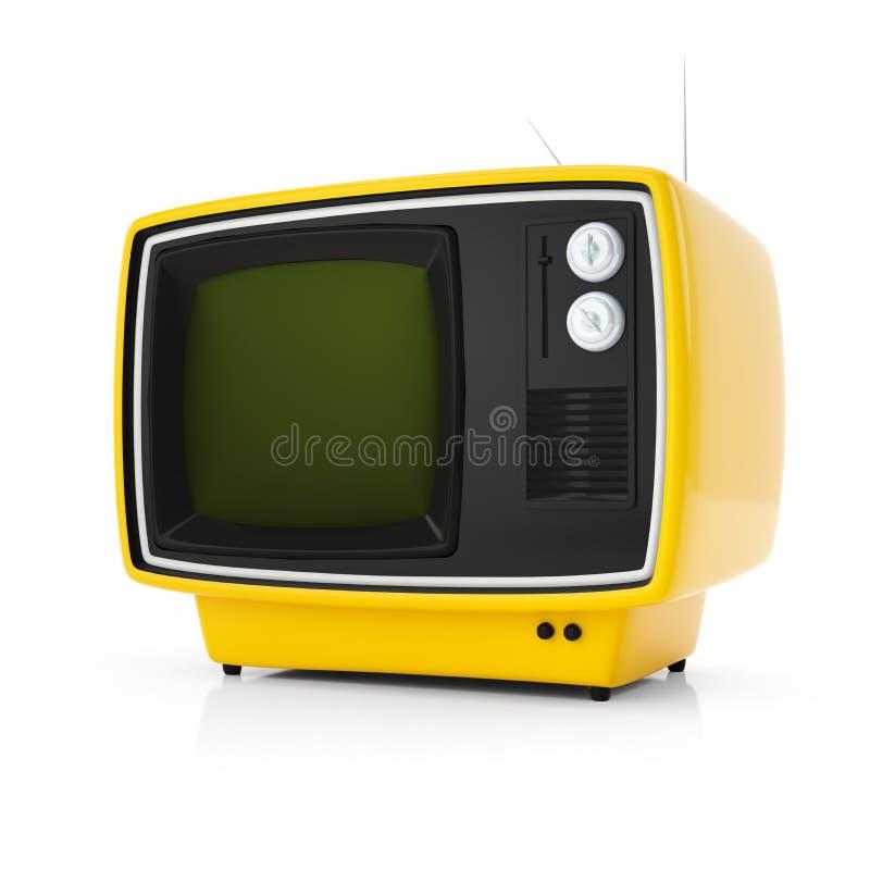 πορτοκαλιά αναδρομική TV ελεύθερη απεικόνιση δικαιώματος