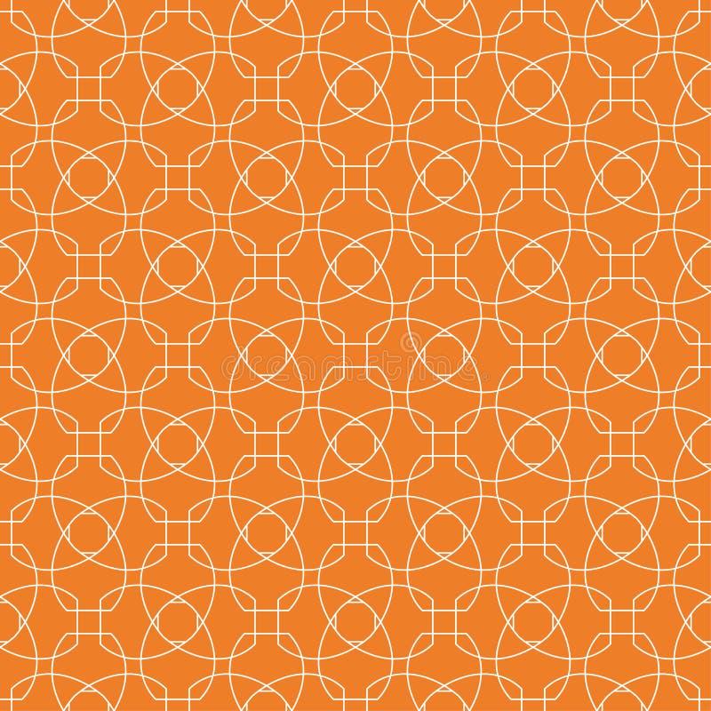 Πορτοκαλιά γεωμετρική διακόσμηση πρότυπο άνευ ραφής απεικόνιση αποθεμάτων