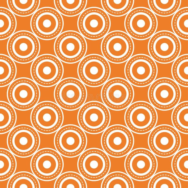 Πορτοκαλιά γεωμετρική τυπωμένη ύλη πρότυπο άνευ ραφής διανυσματική απεικόνιση
