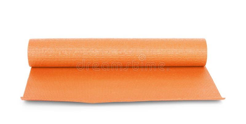 Πορτοκαλιά γιόγκα χρώματος ματ στο υπόβαθρο στοκ φωτογραφία με δικαίωμα ελεύθερης χρήσης