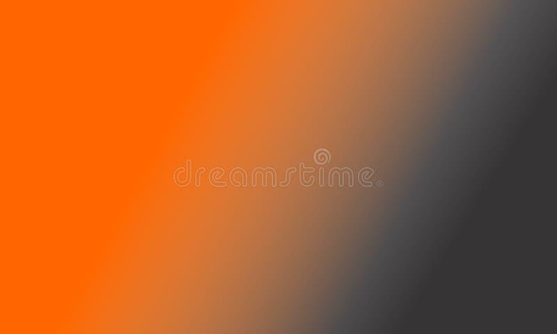 πορτοκαλιά γκρίζα ταπετσαρία υποβάθρου θαμπάδων σκιασμένη περίληψη, διανυσματική απεικόνιση ελεύθερη απεικόνιση δικαιώματος