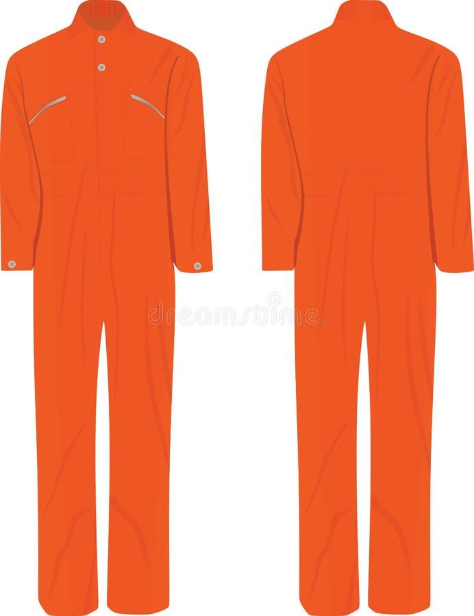 Πορτοκαλιά εργασία ομοιόμορφη ελεύθερη απεικόνιση δικαιώματος