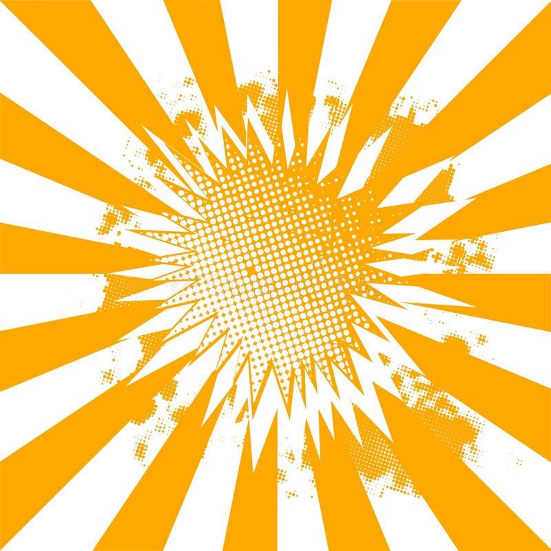 Πορτοκαλιά και άσπρη αφηρημένη έκρηξη ελεύθερη απεικόνιση δικαιώματος