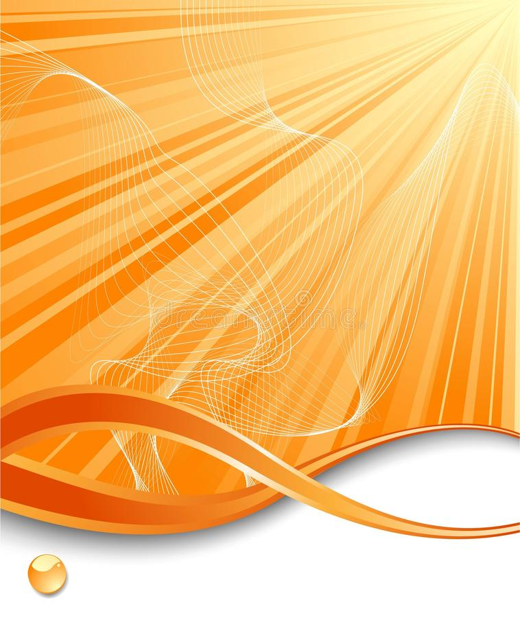 πορτοκαλιά κατακόρυφο&sigma διανυσματική απεικόνιση