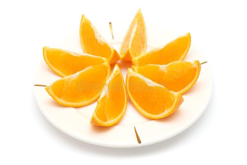 πορτοκαλιά κομμάτια στοκ εικόνες