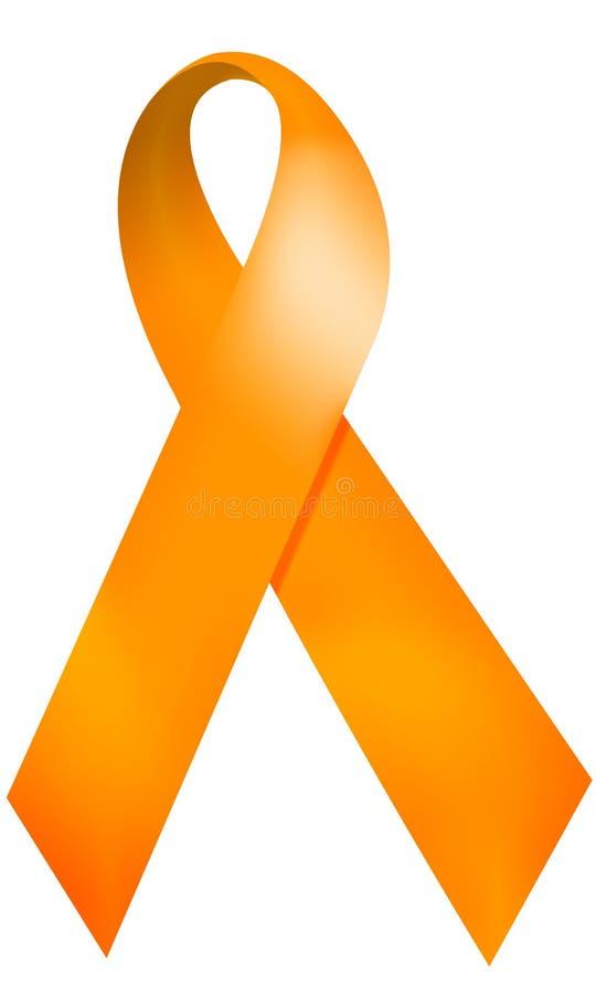 πορτοκαλιά κορδέλλα διανυσματική απεικόνιση