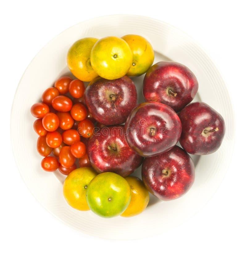 πορτοκαλιά ντομάτα μήλων στοκ φωτογραφίες