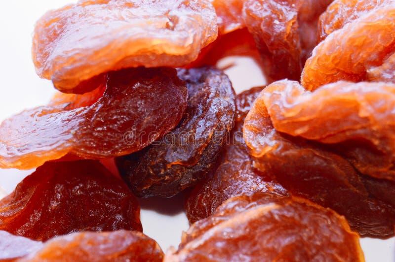 Πορτοκαλιά ξηρά βερίκοκα Τοπ όψη Κινηματογράφηση σε πρώτο πλάνο στοκ εικόνες