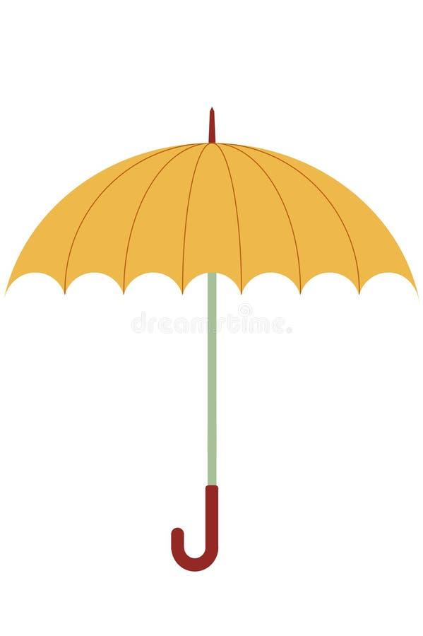 πορτοκαλιά ομπρέλα ελεύθερη απεικόνιση δικαιώματος