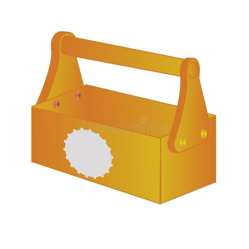 Πορτοκαλιά περίπτωση εργαλείων στο διάνυσμα διανυσματική απεικόνιση