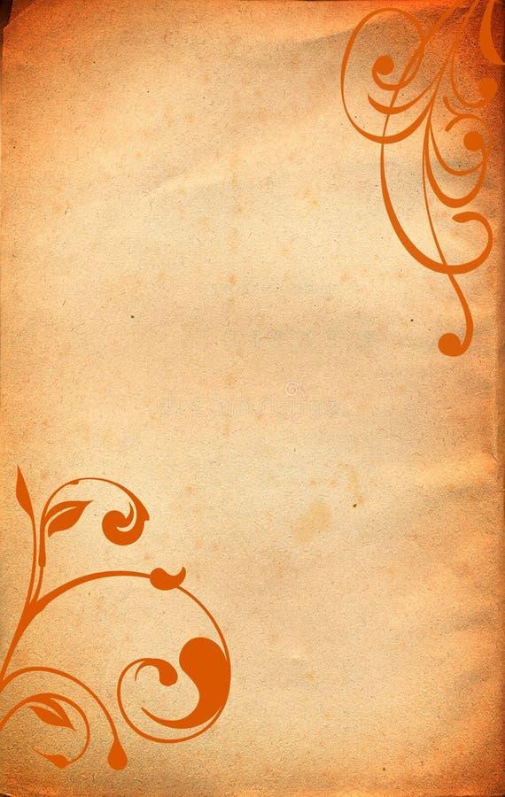 πορτοκαλιά περγαμηνή εγ&gamm απεικόνιση αποθεμάτων