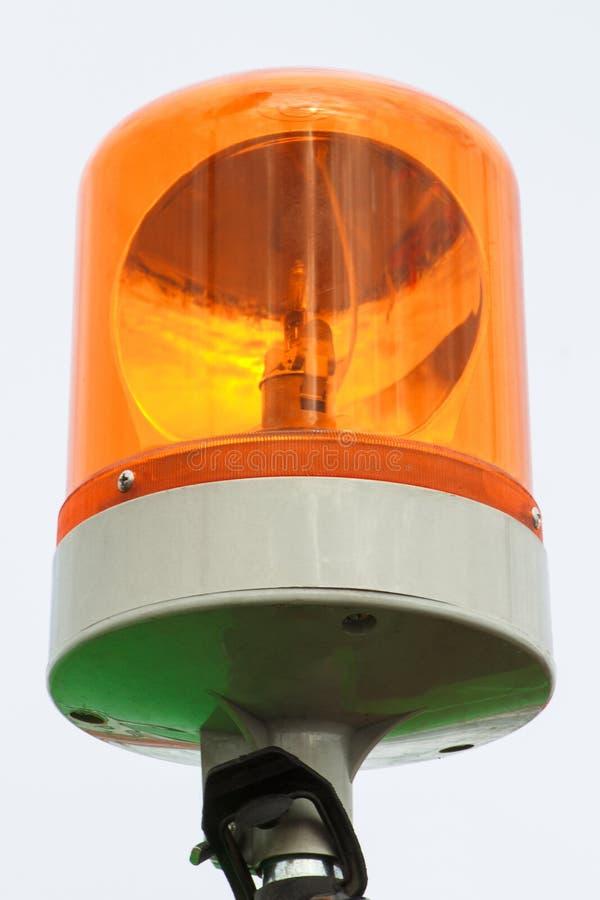 Πορτοκαλιά περιστρεφόμενα φω'τα σειρήνων ως σήμανση ασφάλειας στοκ εικόνες