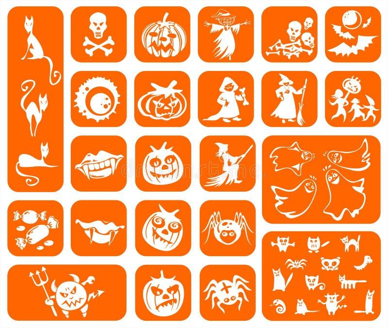 πορτοκαλιά σύμβολα αποκριών απεικόνιση αποθεμάτων