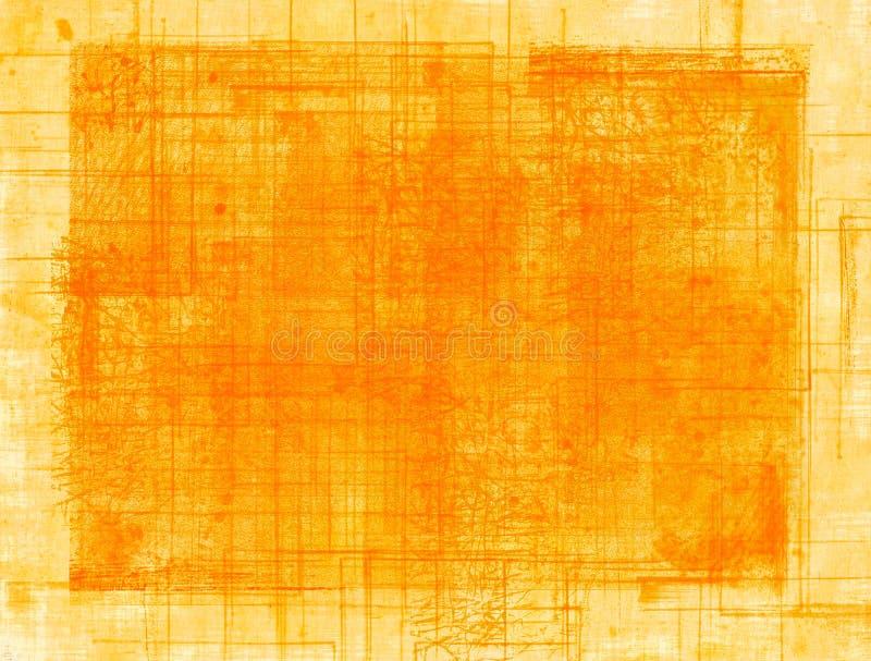 Πορτοκαλιά σύσταση grunge ελεύθερη απεικόνιση δικαιώματος