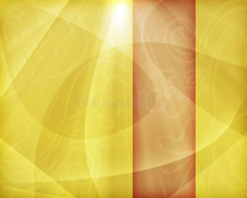 πορτοκαλιά ταπετσαρία κίτρινη διανυσματική απεικόνιση