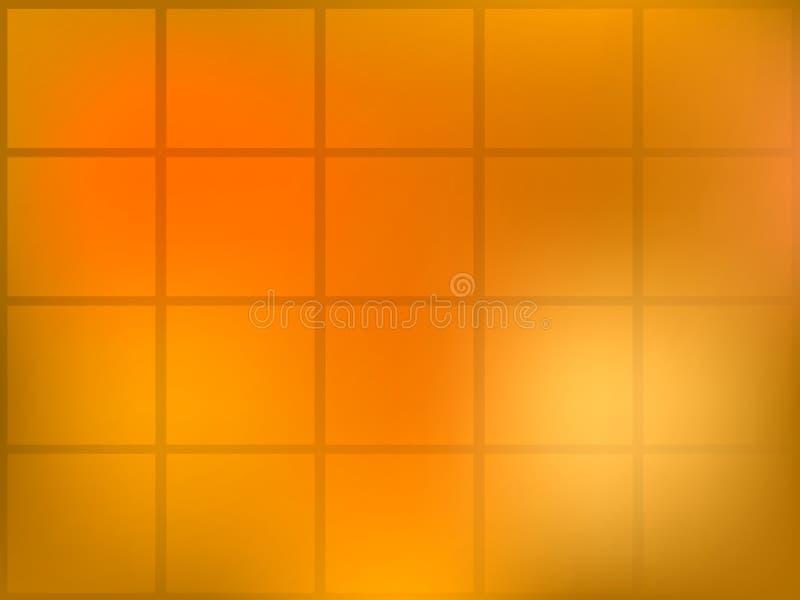 πορτοκαλιά τετράγωνα αν&alpha διανυσματική απεικόνιση