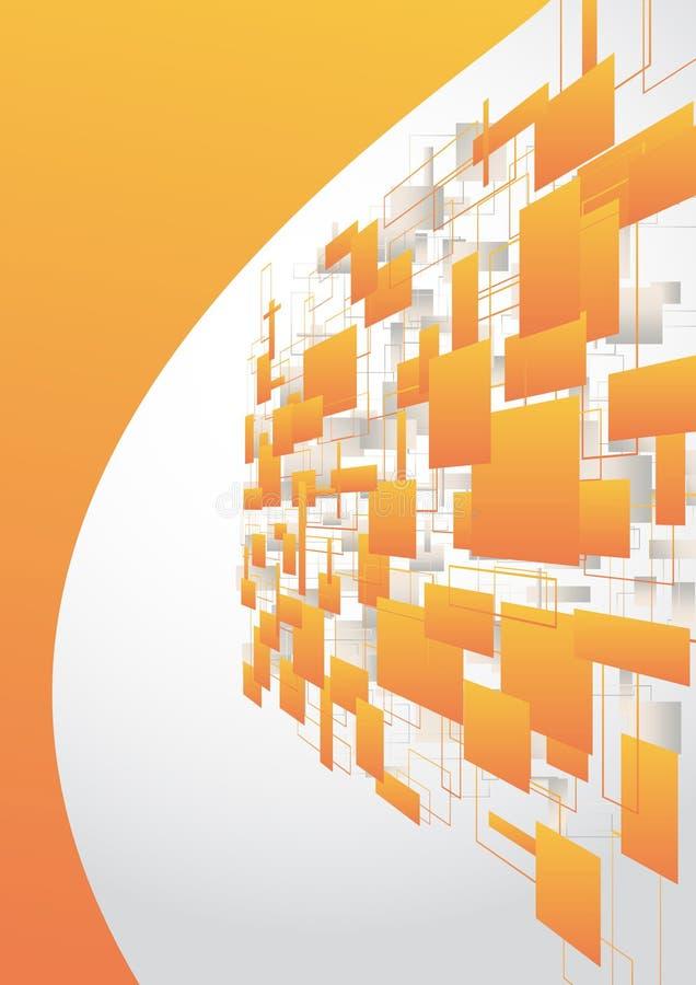 πορτοκαλιά τεχνολογία &al ελεύθερη απεικόνιση δικαιώματος