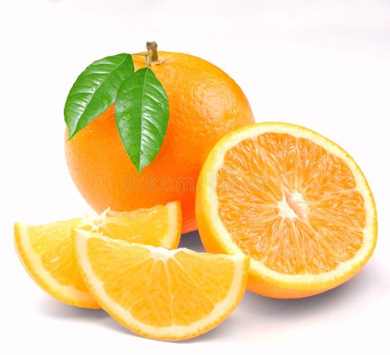 πορτοκαλιά τμήματα μνήμης στοκ φωτογραφίες