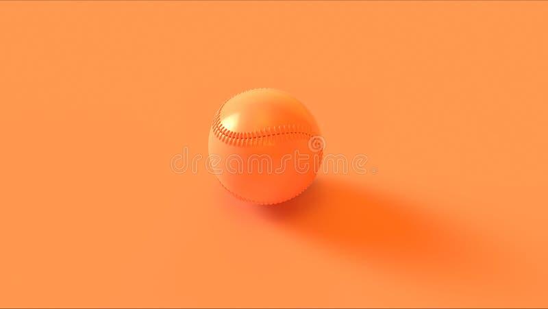 Πορτοκαλιά υψηλή γωνία μπέιζ-μπώλ ελεύθερη απεικόνιση δικαιώματος