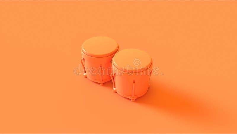 Πορτοκαλιά υψηλή γωνία Bongos διανυσματική απεικόνιση