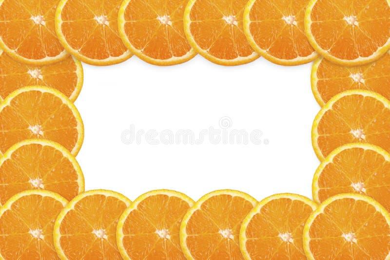 πορτοκαλιά φέτα πλαισίων στοκ φωτογραφία με δικαίωμα ελεύθερης χρήσης