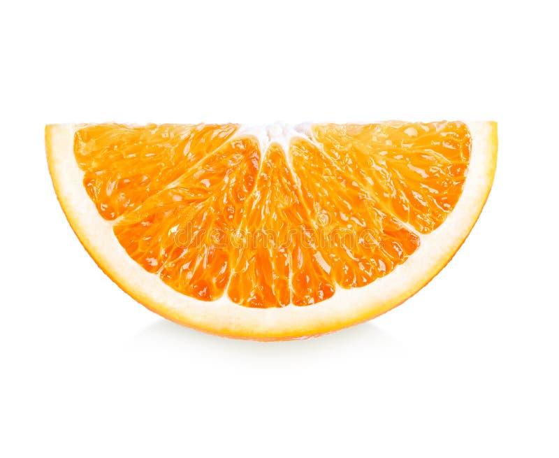Πορτοκαλιά φρούτα Η πορτοκαλιά φέτα απομονώνει στο άσπρο υπόβαθρο στοκ εικόνες