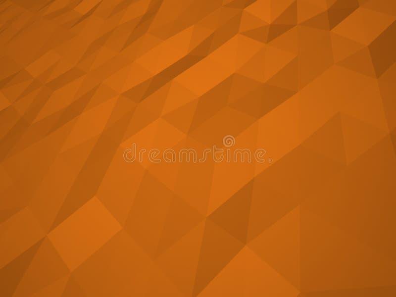Πορτοκαλιά χαμηλή polygonal απεικόνιση υποβάθρου Πορτοκαλιά σύσταση, χαμηλός πολυ στοκ εικόνες