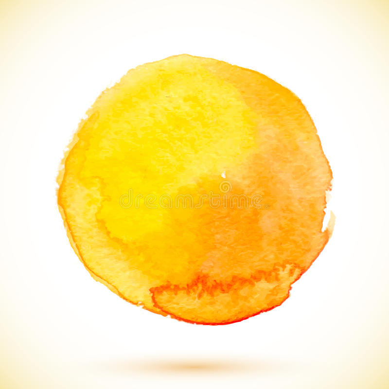 Πορτοκαλής απομονωμένος διάνυσμα κύκλος χρωμάτων watercolor απεικόνιση αποθεμάτων