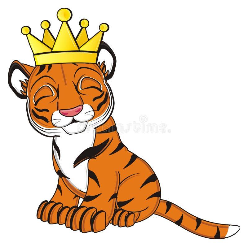 Πορτοκαλής βασιλιάς τιγρών απεικόνιση αποθεμάτων