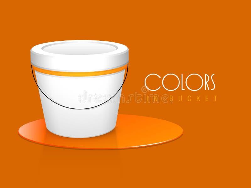 Πορτοκαλής κάδος χρωμάτων χρώματος με το μοντέρνο κείμενο ελεύθερη απεικόνιση δικαιώματος