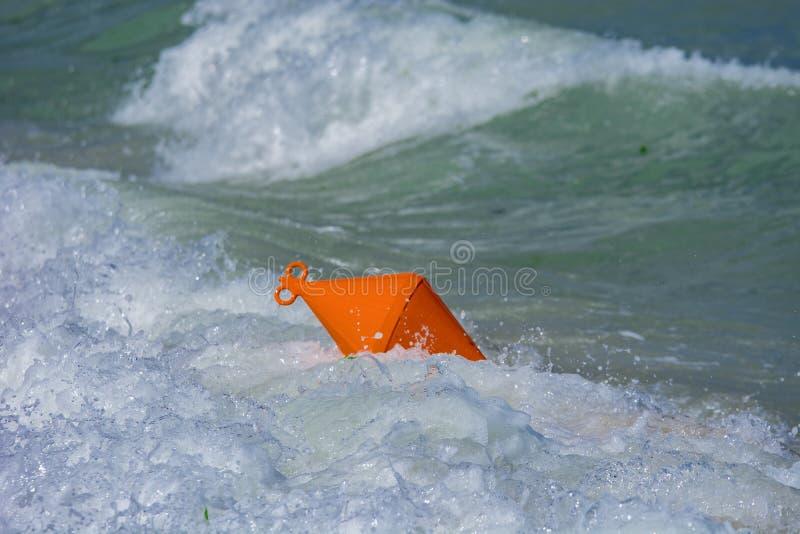Πορτοκαλής σημαντήρας στοκ εικόνες