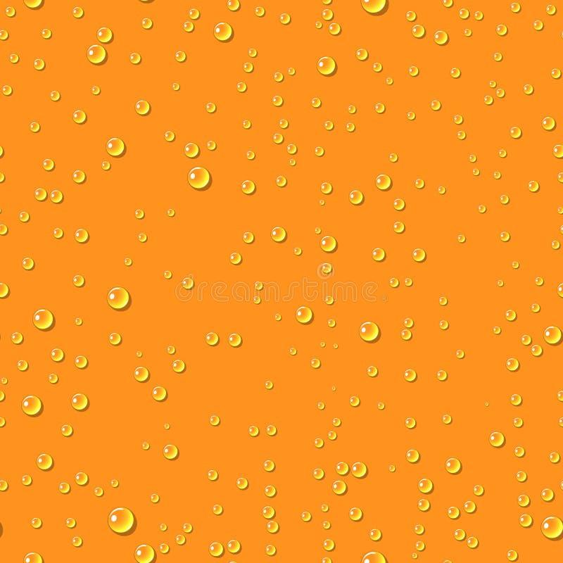 Πορτοκαλί άνευ ραφής σχέδιο πτώσεων νερού διαφανές ελεύθερη απεικόνιση δικαιώματος