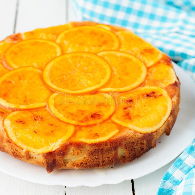 Πορτοκαλί ανάποδο κέικ στοκ εικόνες με δικαίωμα ελεύθερης χρήσης